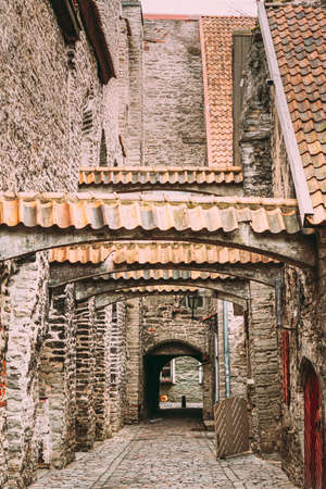 Tallinn, Estonia. St. Catherines Passage From St. Catherines Dominican Monastery. Historic Centre Old Town Of Tallinn.