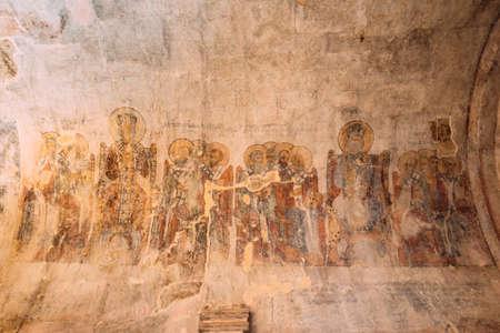 Kutaisi, Georgia. Fresco About First Council Of Nicaea On Wall Of Gelati Monastery