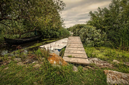 alongside: Fishing boats in the Danube Delta