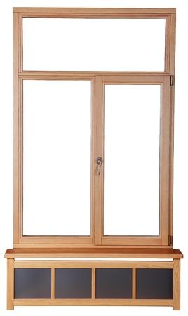 double glazing: Wooden windows with double glazing Stock Photo