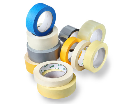 Office supplies, a set of rolls adhesive Imagens