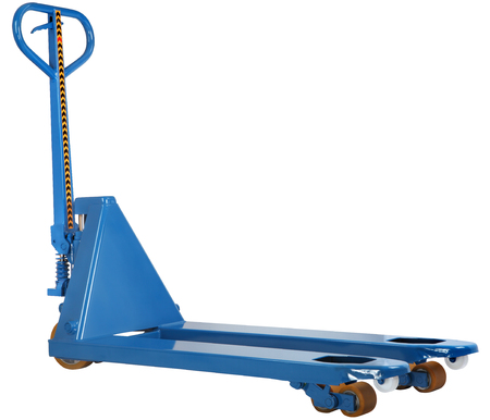 pallet truck: forklift equipment, fork hand pallet truck isolated on white background