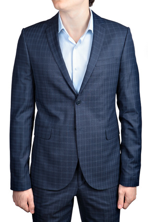 dinner wear: Checkered suit for men, formal wear Stock Photo