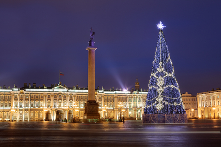 st petersburg russia christmas tree on the palace square next to the - Russia Christmas