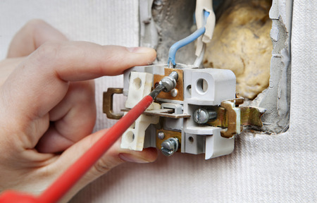Repairing Household Power, Dismantling Faulty Wall Switch Light ...