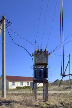 power distribution: Old Electrical Power Distribution Transformer substation in the village near the new cottage.