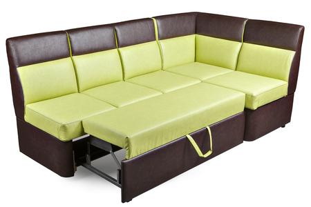 Moderne Witte Slaapbank.Gele Stof L Vormige Sofa Hoekbank Voor Eetkamer Met Opslagruimte