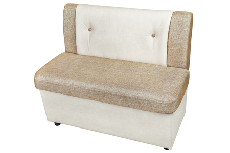 leatherette storage bench seat for dining room, isolated on white background, include clipping path.