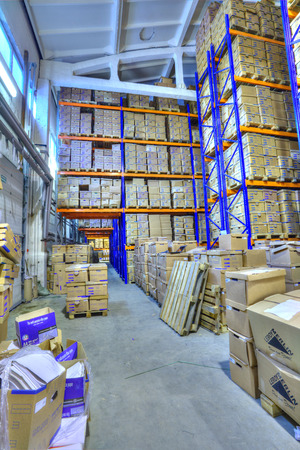 self storage: St. Petersburg, Russia - December 3, 2013: Record storage archives, document warehouse secure storage system.