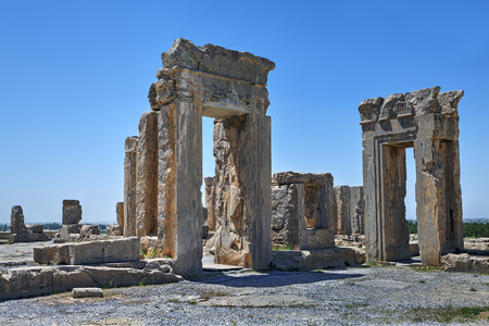The open-air museum, a famous tourist destination near the city of Shiraz, the ruins of the ancient Persian city of Persepolis.