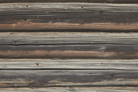 Surface of log wall, wooden texture for background.