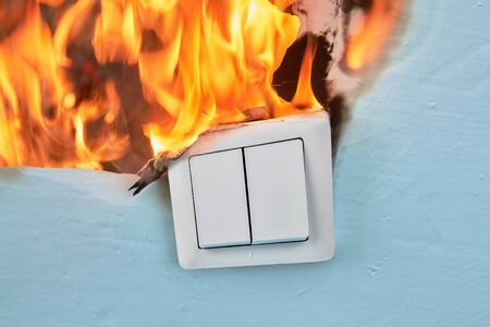 Home light switch burned out cause electrical fire.
