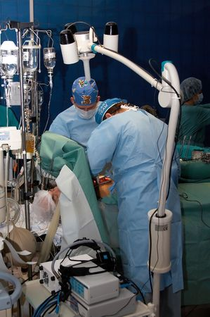 command: The command of surgeons spends operation on the open