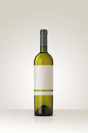 white wine: White Wine Mockup Stock Photo