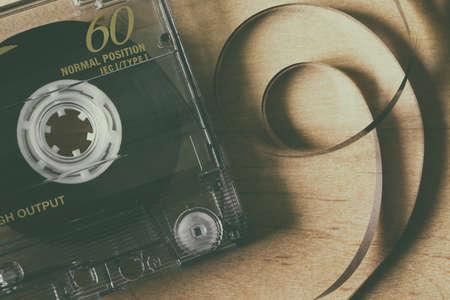 Audio cassette tape macro closeup Reklamní fotografie