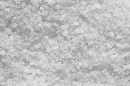 White sea salt closeup background texture, macro photography from above