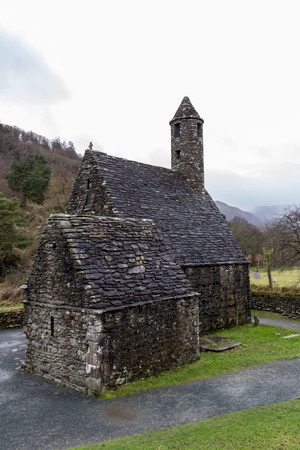 Saint Kevin's Kitchen at the Glendalough Monastic Site in Wicklow, Ireland