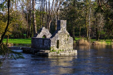 On the grounds of Cong Abbey is the Monk's fishing house built on stone pillars in the middle of the River Cong