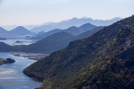 Iconic view of the headwaters of Skadar Lake from a popular viewpoint Reklamní fotografie