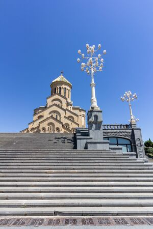 Holy Trinity Cathedral of Tblisi is the main Georgian Orthodox cathedral Stock Photo