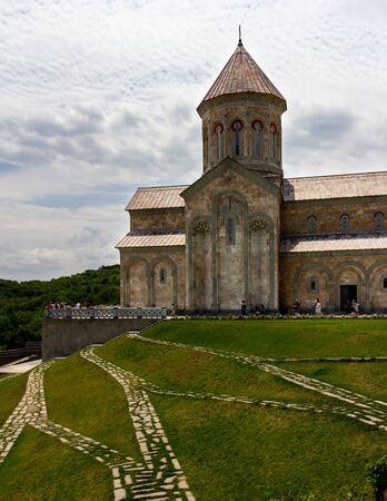 July 6, 2019 - Bodbe, Georgia - The Monastery of St. Nino at Bodbe is a Georgian Orthodox church and other sacred buildings near Sighnaghi, Kakheti, Georgia. Stockfoto