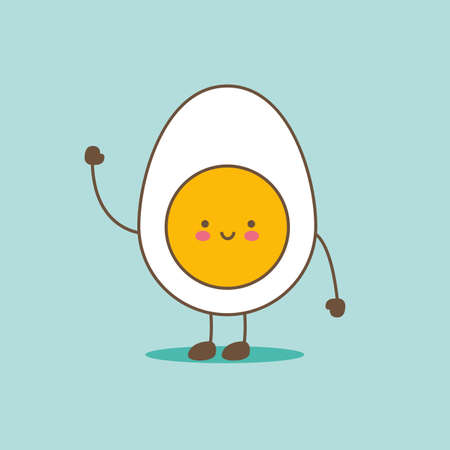 Cute and good-natured egg character. Smiles and greets everyone