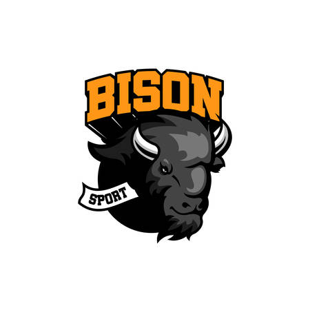 bison logo template design