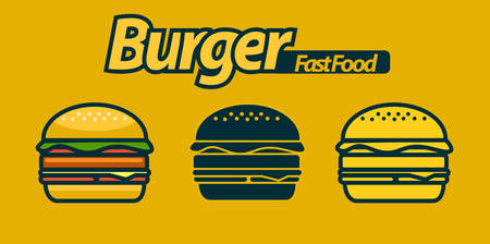 hamburger with premium vector