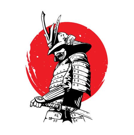 samurai warrior design Vektorové ilustrace