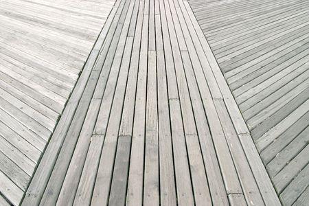 coney: Close up of boardwalk at Coney Island Stock Photo