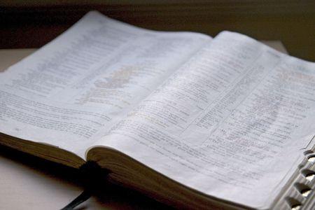 window light: The Bible in window light Stock Photo