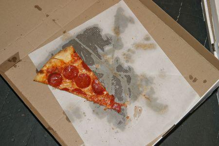 Last slice of pizza Reklamní fotografie