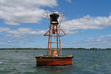 buoy: River buoy Stock Photo