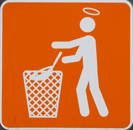 recolector de basura: Imagen agradable sobre la limpieza Foto de archivo