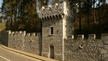 watchtower: castle defence wall and watchtower
