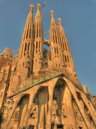 barcelona spain: this is the sagrada familia exterior barcelona spain Editorial