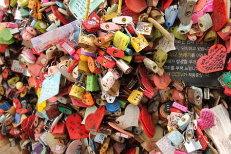 Love Locks at Seoul Tower for couples who wish to show their eternal love