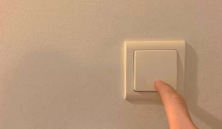 electrical switch in the room when turning on, off