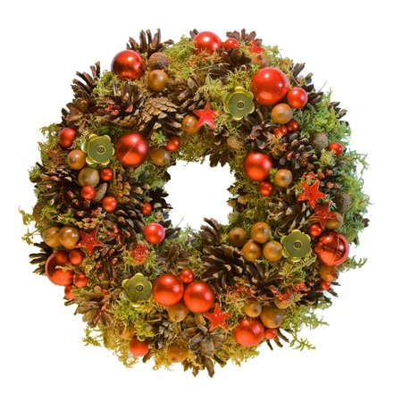 corona de adviento: Red Corona de Navidad con materiales naturales eco