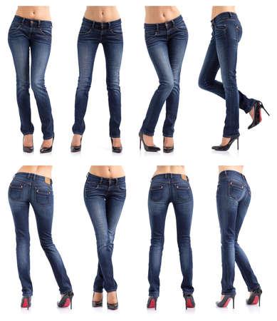 jeans apretados: Colección de las mujeres  Foto de archivo