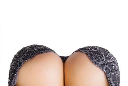 Большая грудь и сексуальная вид расщепления сверху