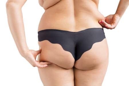grosse fesse: Femme de surpoids Banque d'images