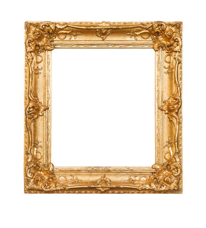 baroque picture frame: Empty old painting frame