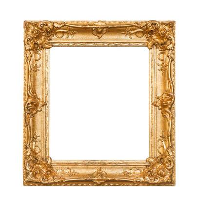 objetos cuadrados: Marco de la pintura vieja vacía