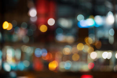 Abstract city lights background photo