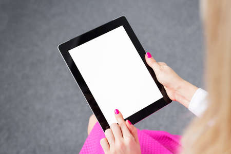 ebook: Woman using tablet computer