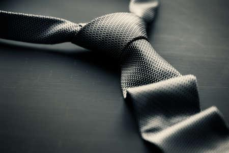 elegante: Cravate gris foncé