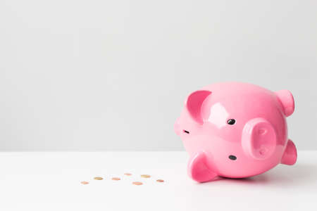 broke: Empty piggy bank