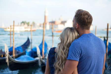 venice: Couple visiting Venice
