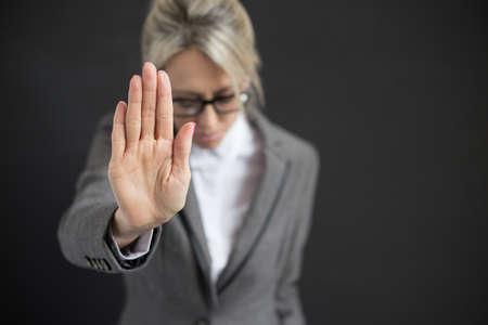 防衛: ビジネスの女性のうつ病